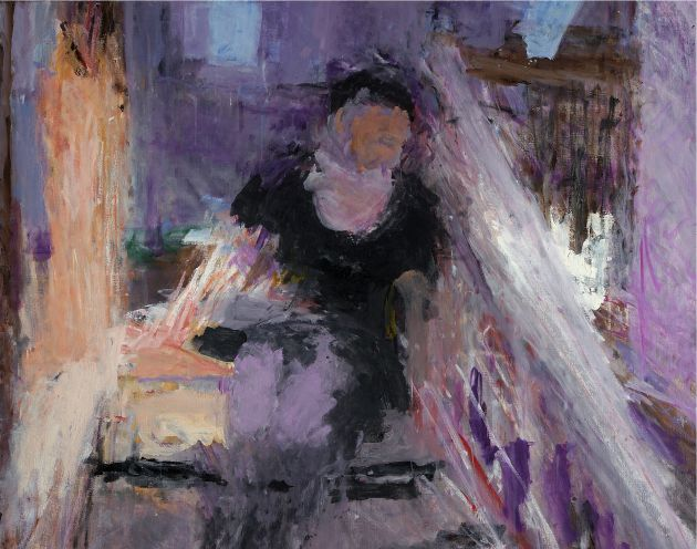 Double Sunlight, Frances on the Stairs, 2004 48 x 60 inches. Oil on canvas © Sargy Mann