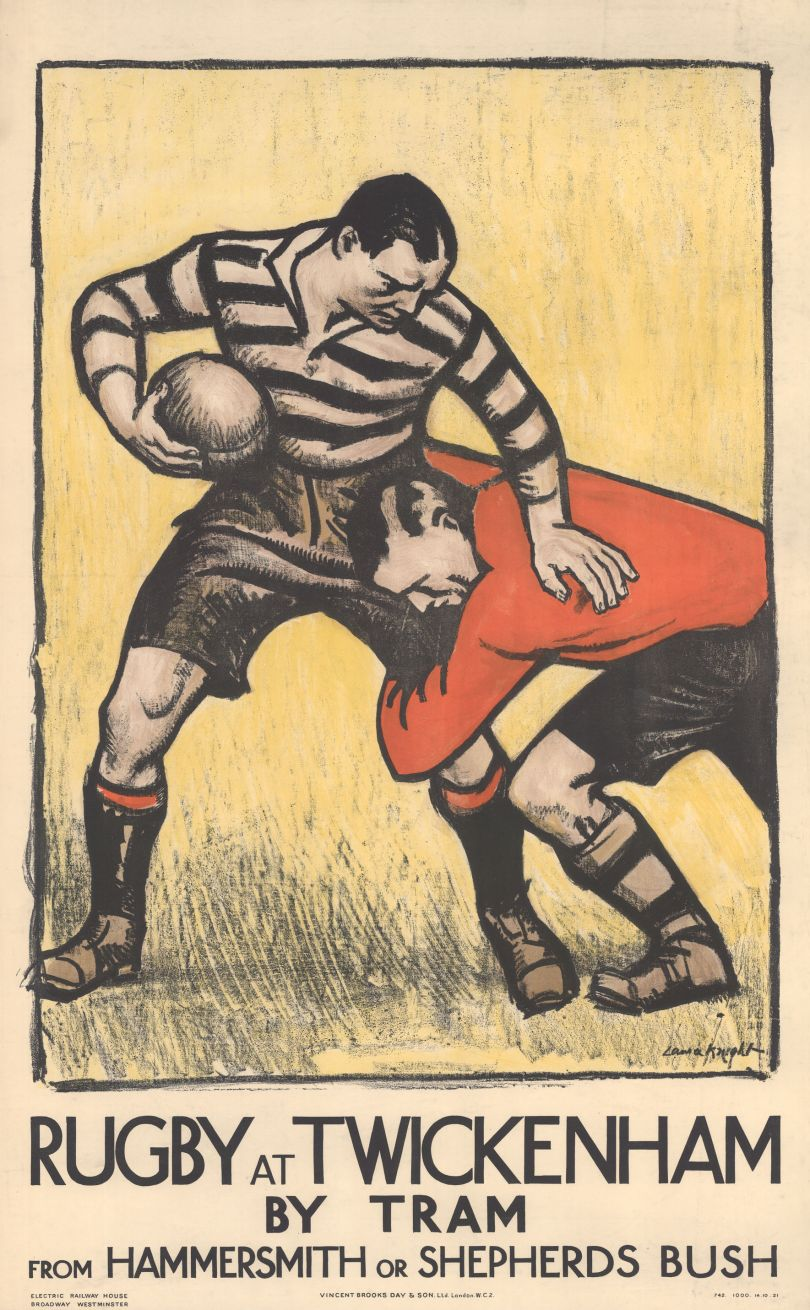 Rugby at Twickenham, by Laura Knight, 1921