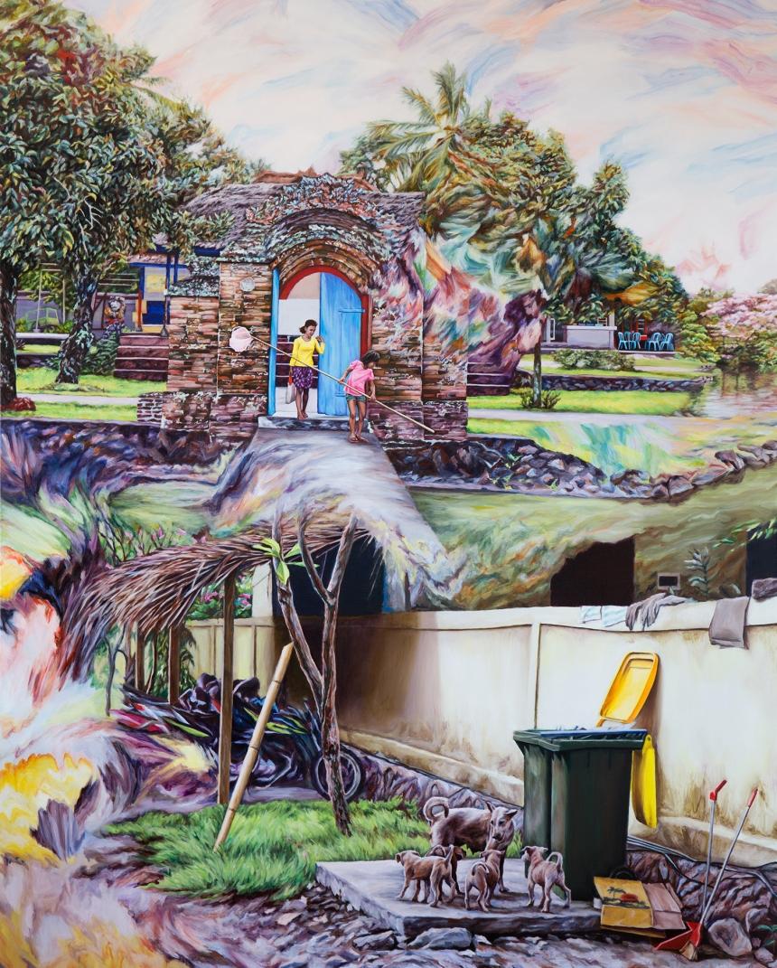 Kevin Chin, Scavengers 2017, oil on Italian linen, 183 x 147 cm