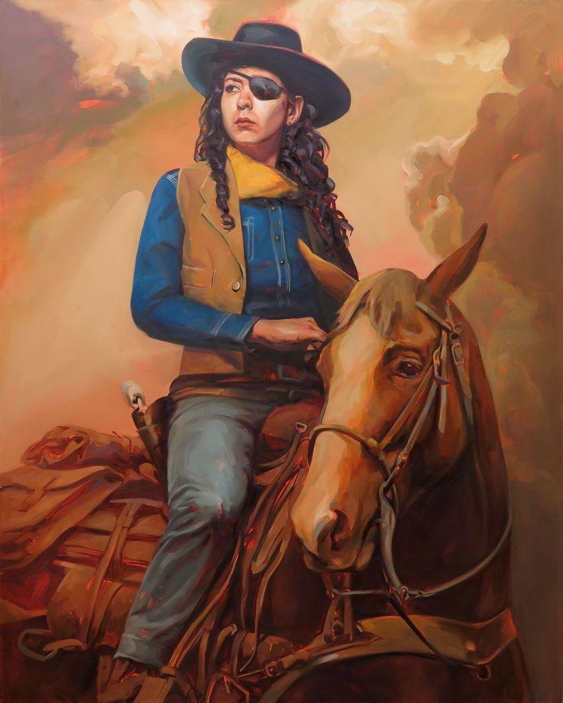 Felice House, Rebekah Wayne in True Grit, 2015. Oil on canvas.