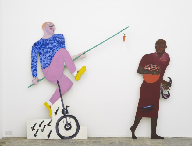 Lubaina Himid, Carrot Piece, 1985. Courtesy the artist and Hollybush Gardens, photo Andy Keate