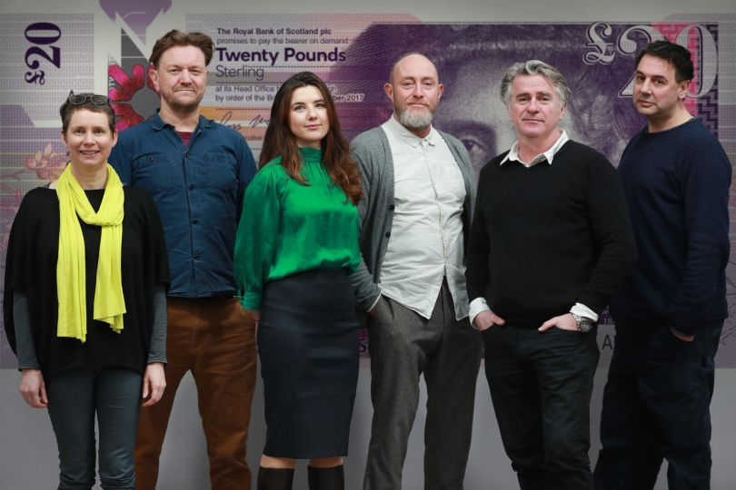 Scottish design professionals from Nile, O Street, Stuco Design and (far right) Alistair McAuley and Paul Simmons from Timorous Beasties © Stewart Attwood