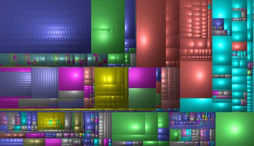 Screenshot of the artist's HD weaving digital matter