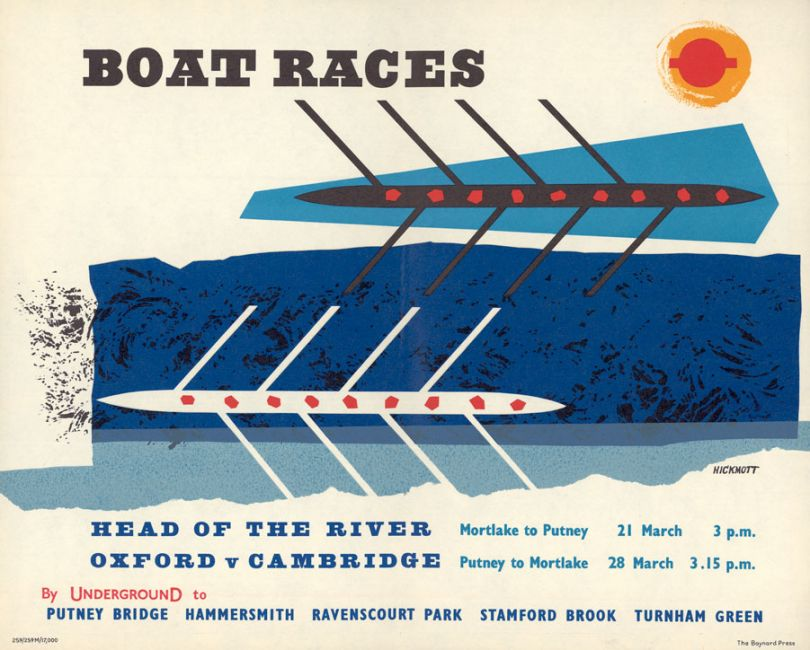 Boat Races. Head of the River..., by Anne Hickmott, 1959