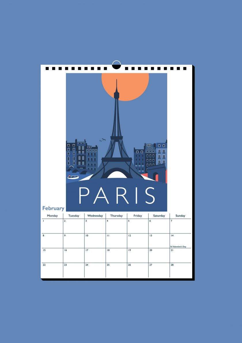 Travel Posters calendar by Rebecca Pymar