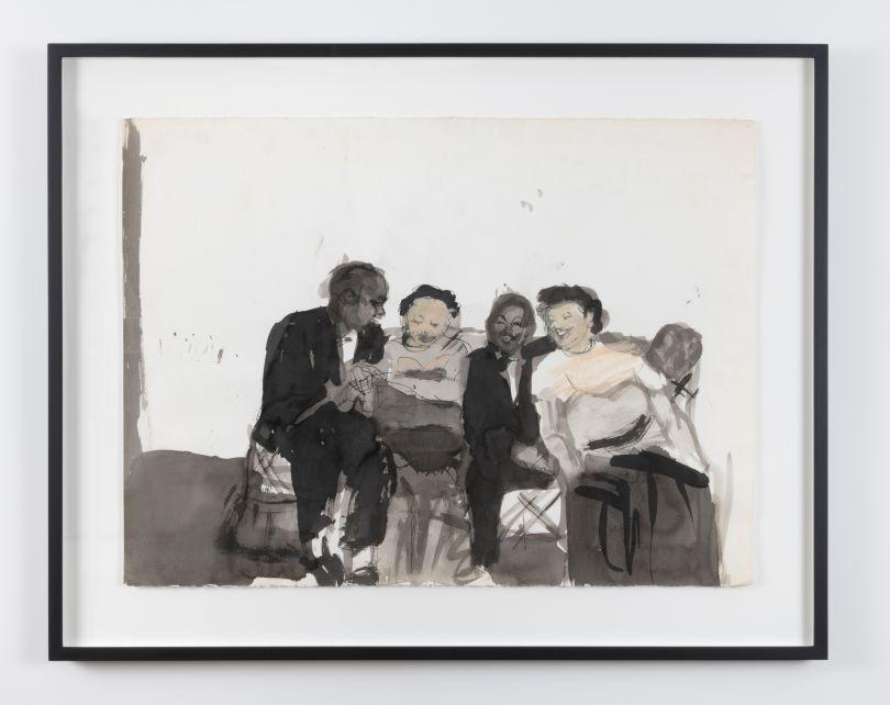Untitled (Four People Sitting), ca. 1983 © Darrel Ellis. Courtesy of Candice Madey, New York