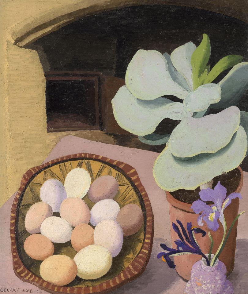 Cotyledon and Eggs, 1944 Sir Cedric Morris Oil on canvas © Colchester Art Society Courtesy the Cedric Morris Estate
