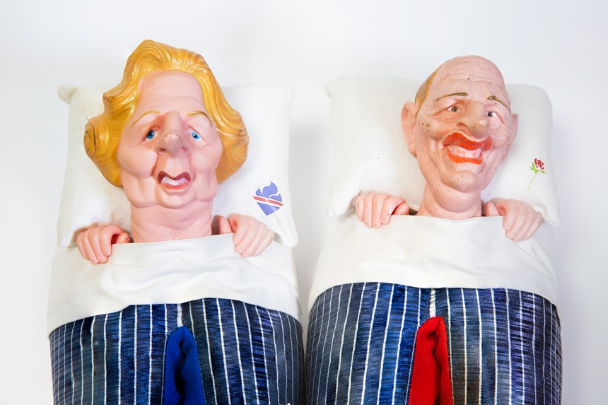 Margaret Thatcher and Neil Kinnock Spitting Image slippers (detail) © Museums Sheffield
