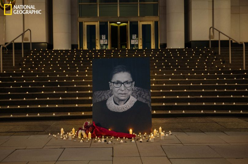 A memorial in Michigan was one of many nationwide honoring Supreme Court Justice Ruth Bader Ginsburg, who died at 87 on September 18. Ginsburg was a feminist trailblazer long before she was nominated to the high court in 1993 by then President Bill Clinton. She successfully worked on behalf of gender equality in a distinguished legal career. Her death led to a contentious pre-election scramble in the U.S. Senate over filling Ginsburg's seat. Conservative judge Amy Coney Barrett was confirmed on October 26 as Ginsburg's replacement. (Andrea Bruce)
