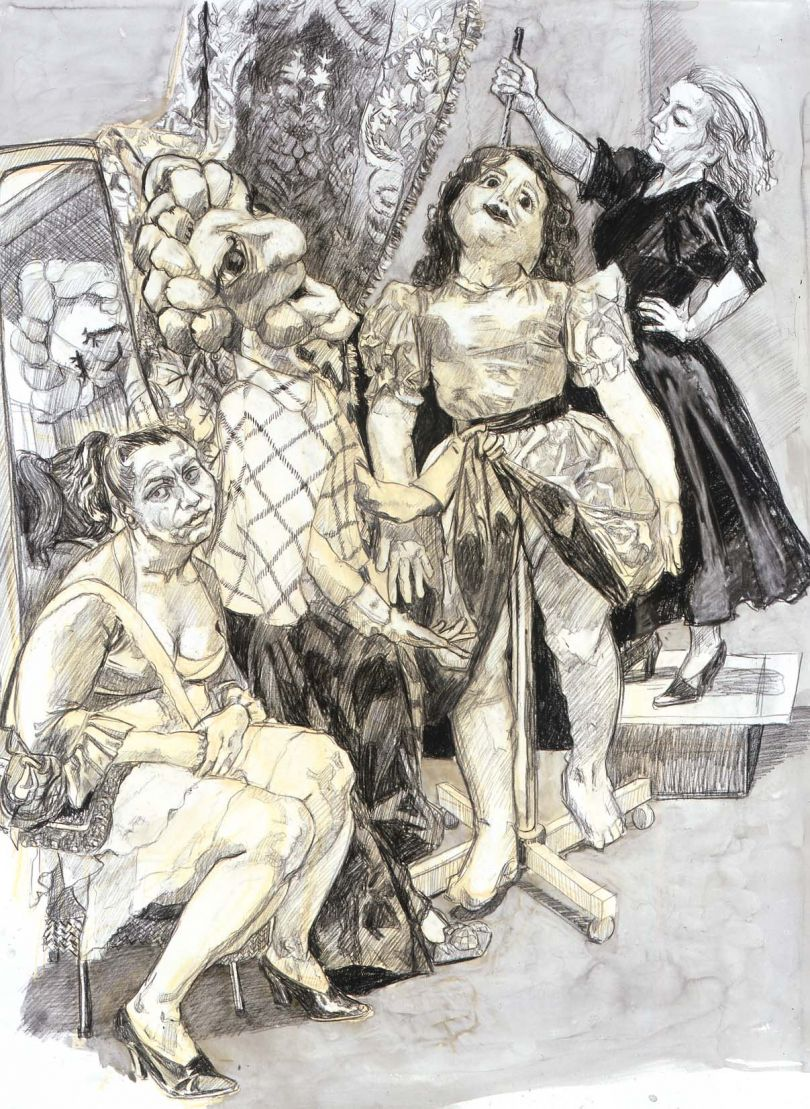 Paula REGO (b. 1935) Impailed, 2008 Conté pencil and ink wash on paper, 137 x 102 cm Collection: Private Collection © Paula Rego, courtesy of Marlborough, New York and London