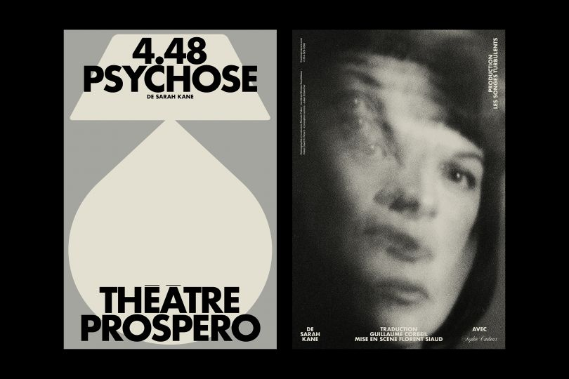 Outtake from a poster series for the 2021 campaign at Théâtre Prospero.