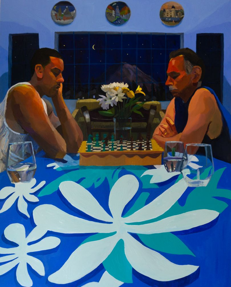 Mikey Yates, Chess with Dad (Mt. Rainier), 2021, courtesy of the artist and Taymour Grahne Projects
