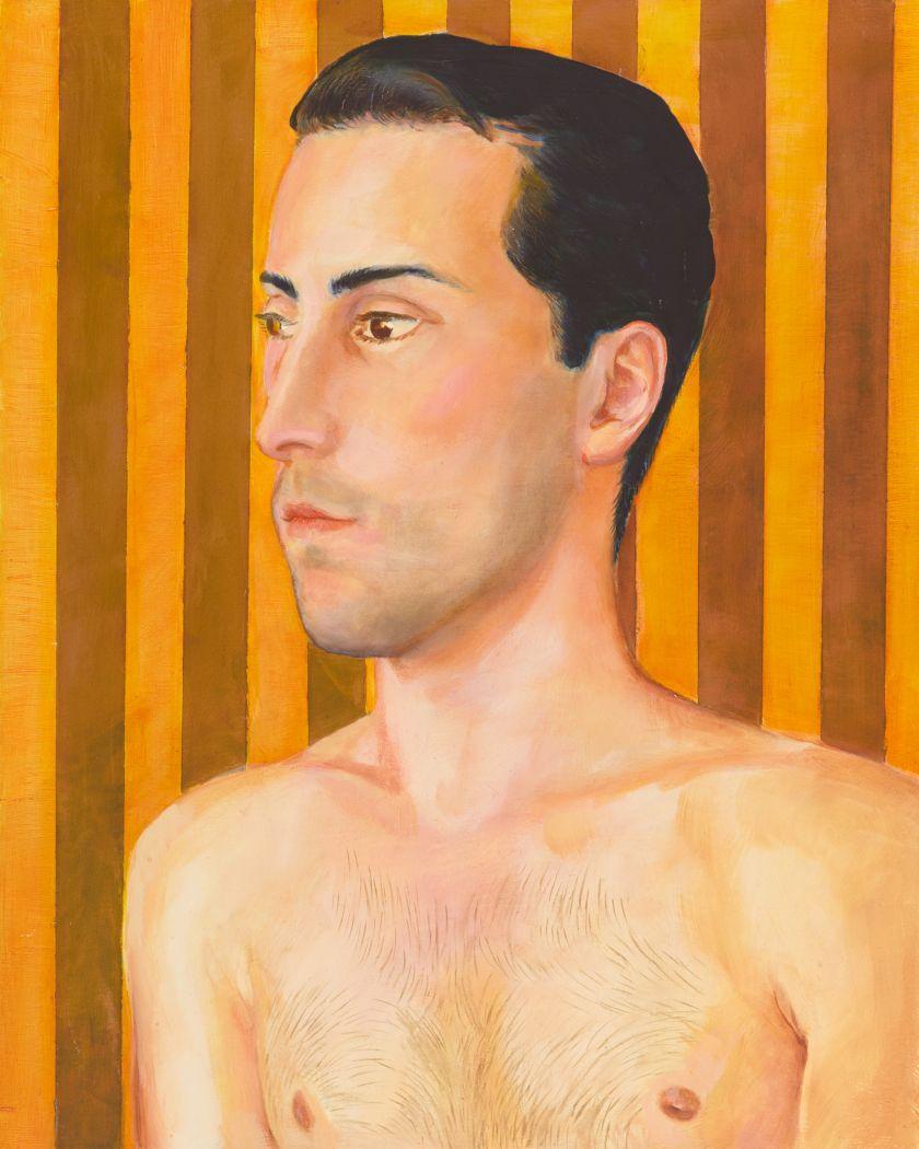 Lewis, Untitled (Striped Portrait), c, 2000