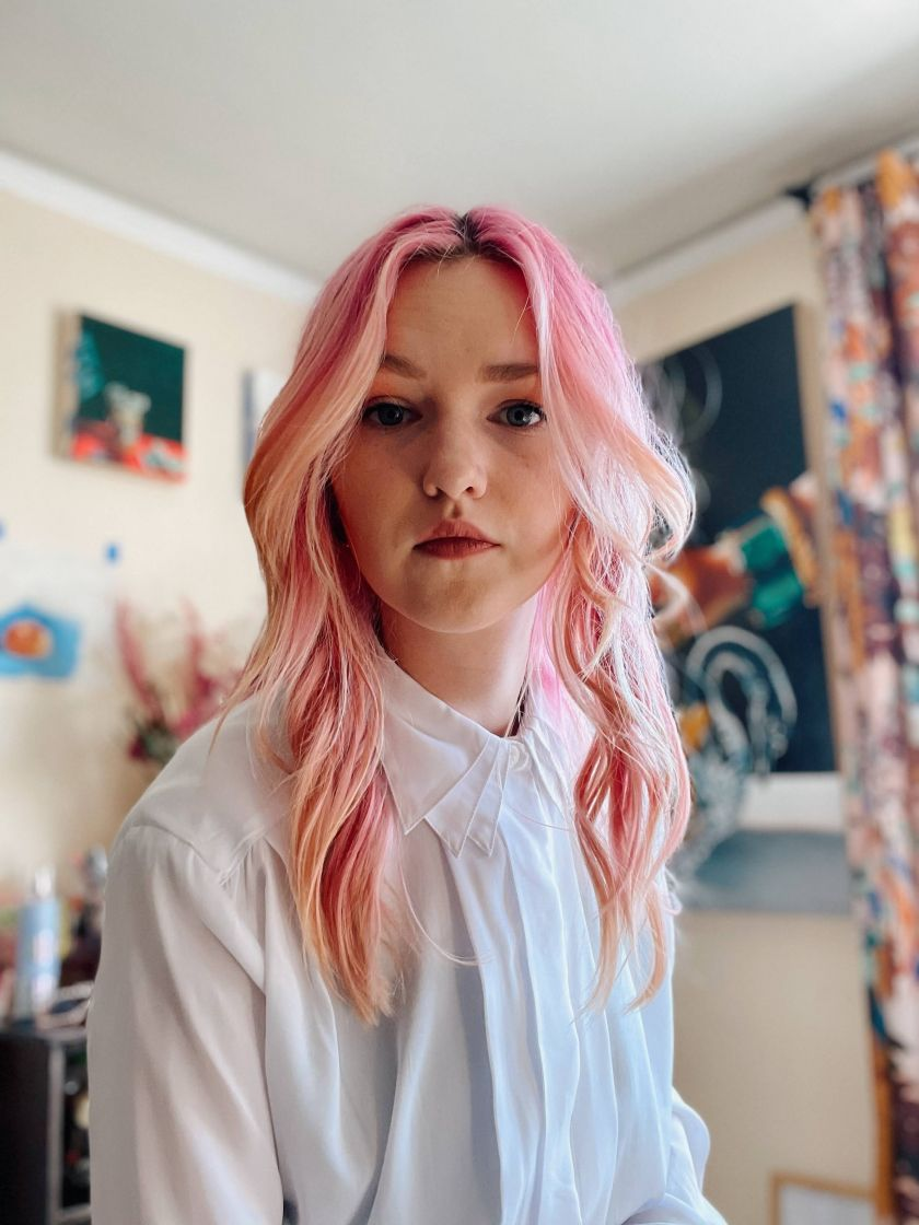 Amy Lewis in her studio