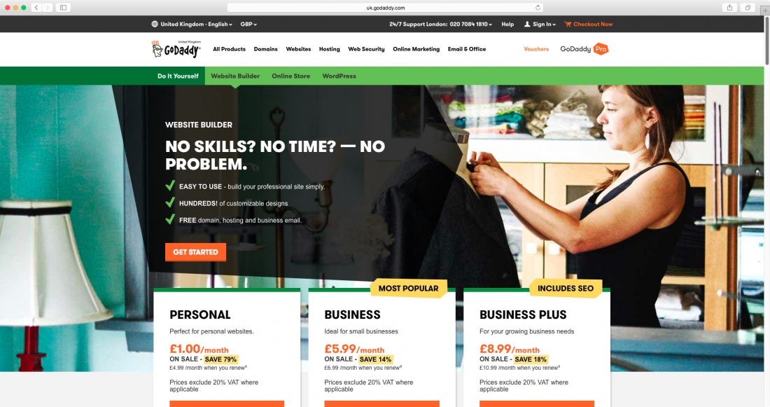 10 of the best website building tools to help you get online site hosting pro godaddy also offers a tool for building your own website again following the template approach but with the offering of as many solutioingenieria Gallery