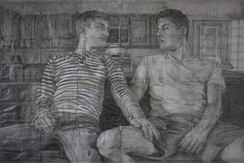 James Robert Morrison,  There is Never More Than a Fag Paper Between Them – Dominic & Andy