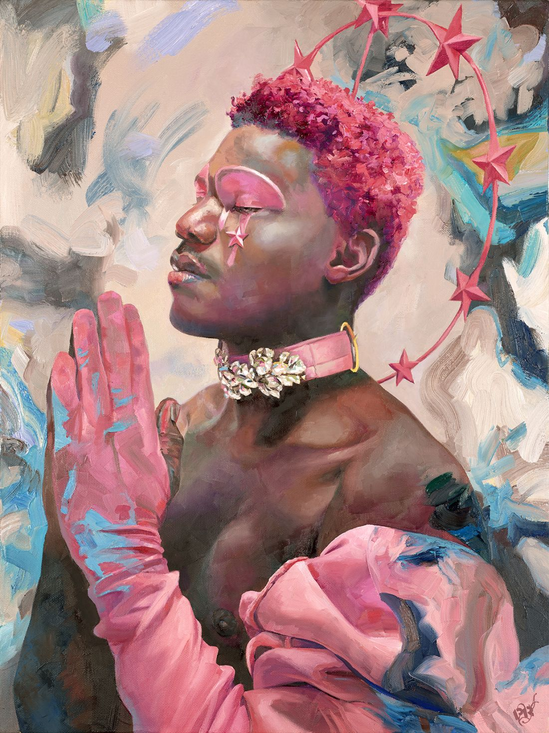 The Masks We Wear: Paintings of diverse figures who thrive despite being invisible to the patriarchy