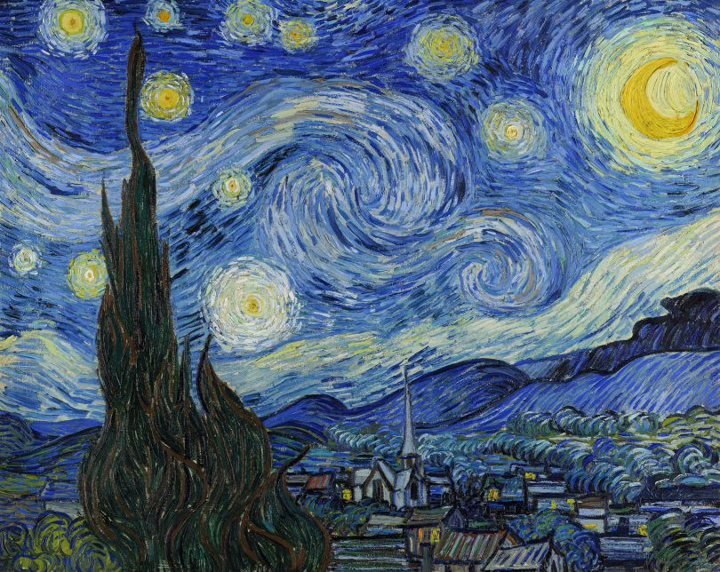 Vincent van Gogh, (1853-1890) The Starry Night, 1889, oil on canvas. Museum of Modern Art, New York City. Image Licensed via Adobe Stock