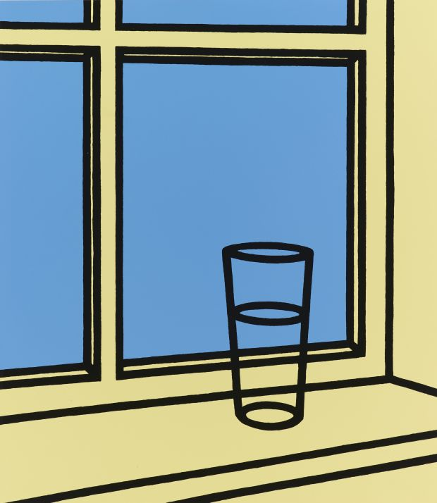 Patrick Caulfield, Oh Hélène, J'erre en ma chambre, 1973. Arts Council Collection, Southbank Centre, London © The Estate of Patrick Caulfield.  All rights reserved, DACS 2018