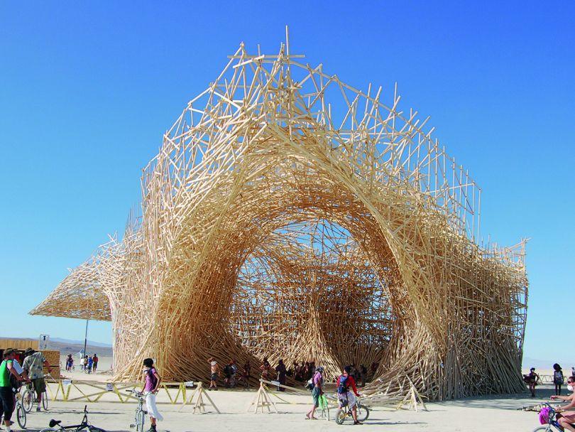 Uchronia at Burning Man, Black Rock Desert, NV, USA, Arne Quinze, 2006. Picture credit: Jason Strauss