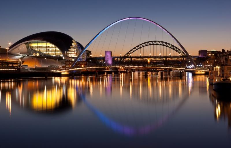 The stunning Tyne Bridge at night. Image credit: [Shutterstock.com](http://www.shutterstock.com/)
