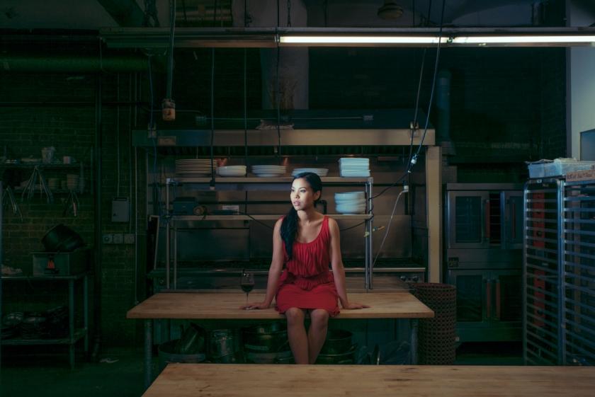 Michelle Vo, actress & waitress in a Chelsea Market restaurant