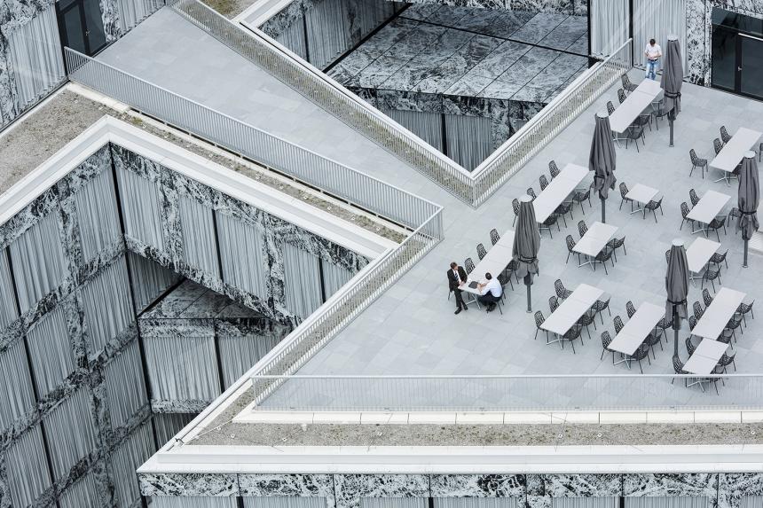 Photographer: Adrien Barakat Allianz Headquarters, Zurich, Switzerland  Architect: Wiel Arets Architects