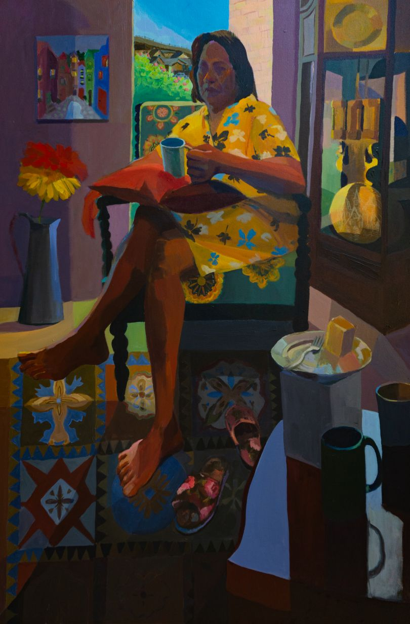 Mikey Yates, Coffee and Cassava Cake with Mom in Texas, 2021, courtesy of the artist and Taymour Grahne