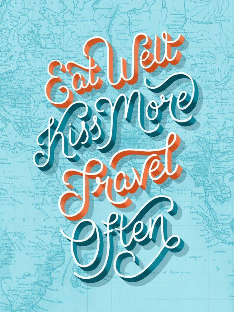 Typography poster design by Lauren Hom