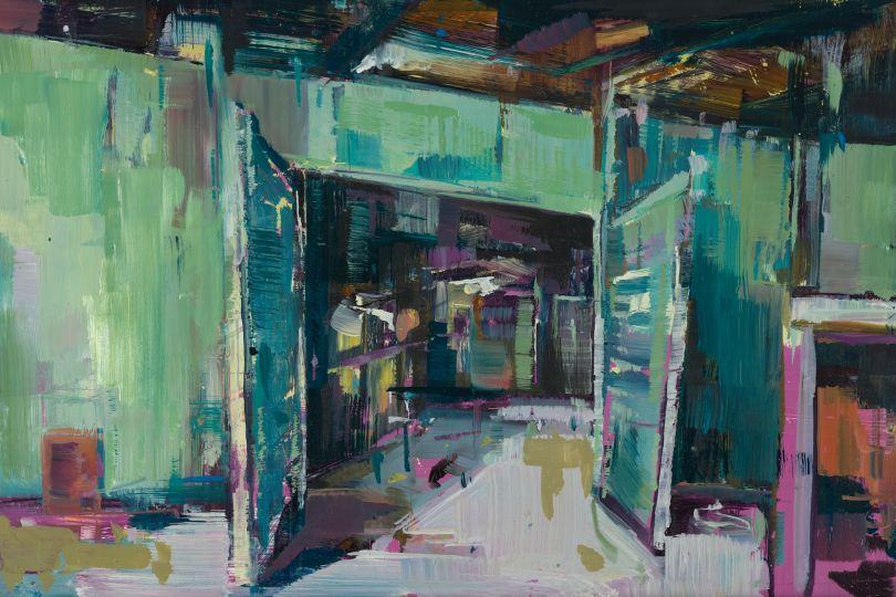 Green Door, 20x30cm. © Katharine Le Hardy