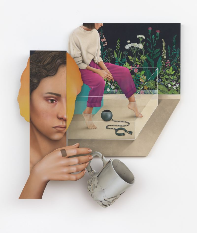 3D paintings by Arghavan Khosravi show her trapped between two worlds