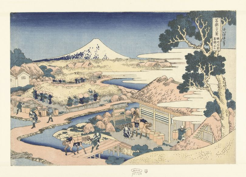 Katsushika Hokusai, Fuji Seen from the Katakura Tea Plantation in the Suruga Province, 1831-1835, Rijksmuseum, Amsterdam, purchased with the support of the F.G. Waller-Fonds