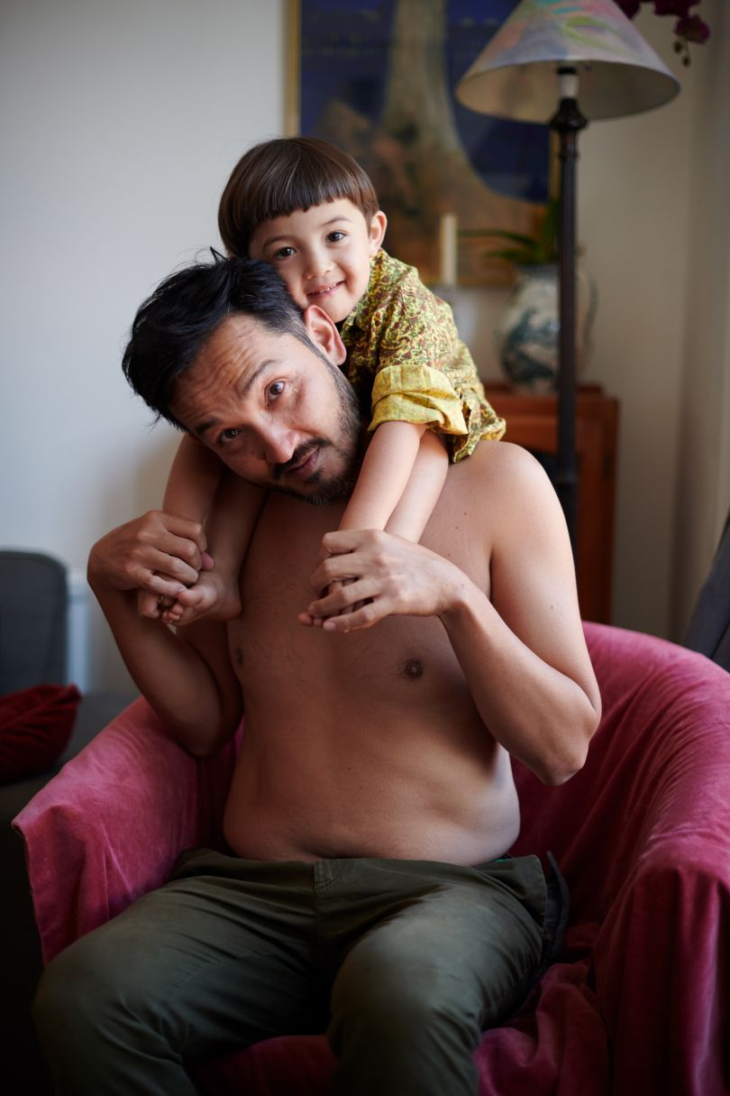 Finn and Genne – From the series, Present Fathers © Sophie Harris-Taylor