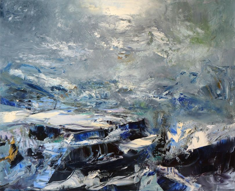 Michael Smith Break of Weather, 2018 acrylic on canvas 76 x 94 in.