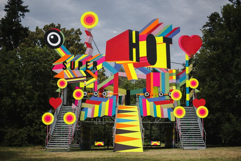 Summer Well Festival installation with Luke Morgan