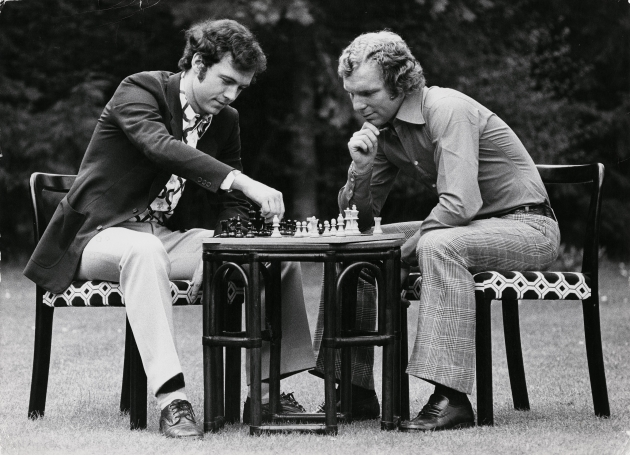 Franz Beckenbauer and Bobby Moore by Terry O'Neill, mid 1970s © Iconic Images/Terry O'Neill