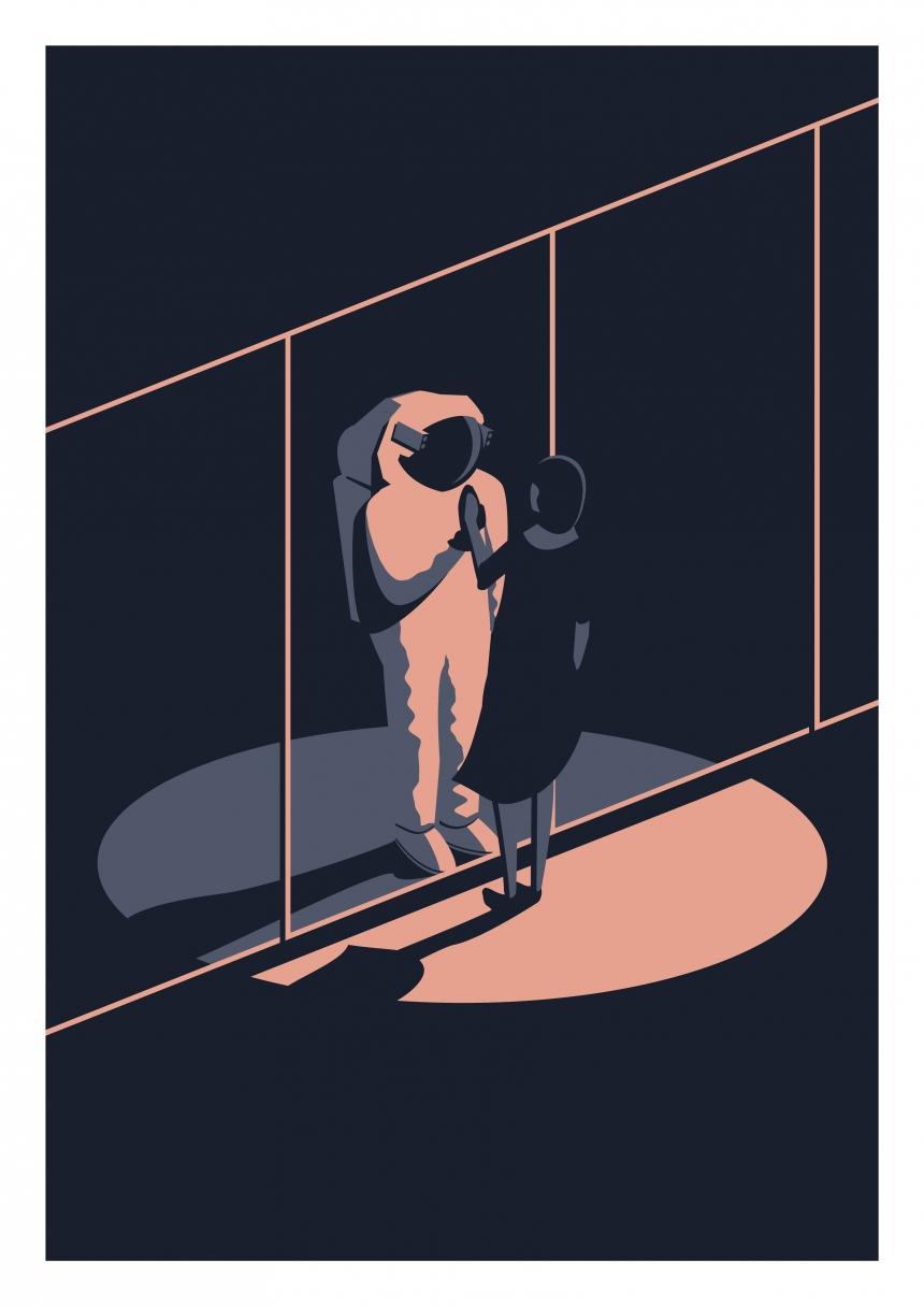 Departure Print by Ed Blunt