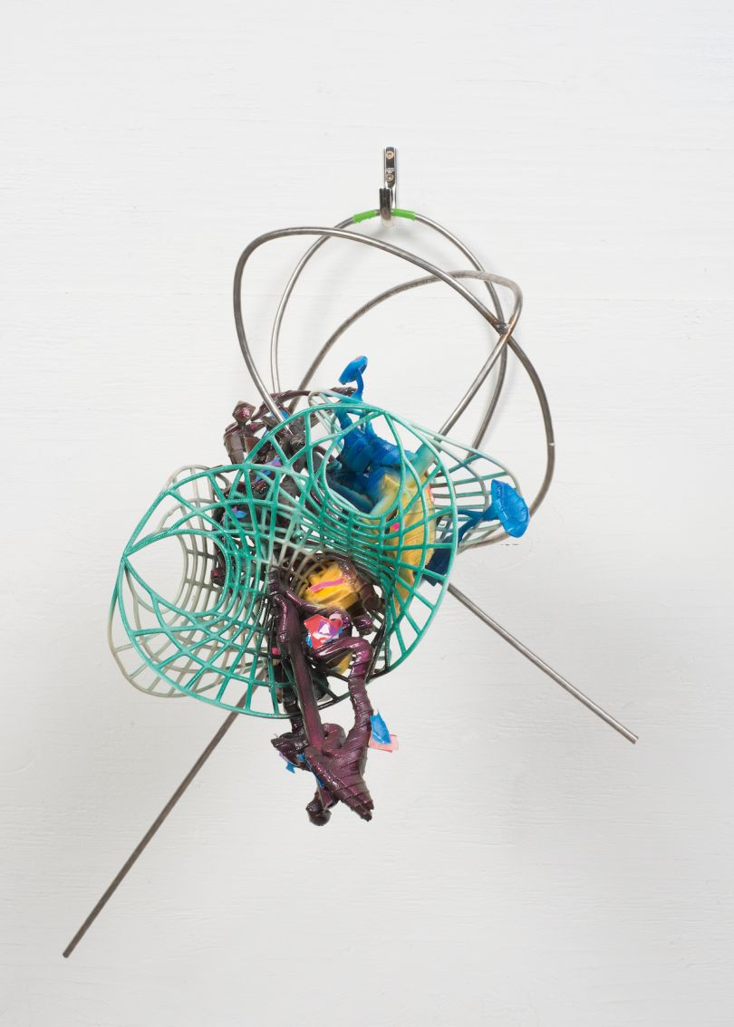 Frank Stella, Scarlatti K series: K.507, 2016, painted elasto plastic RPT with metal, 58 x 46 x 41 cm. Picture credit: artwork © Frank Stella (page 93, lower right)