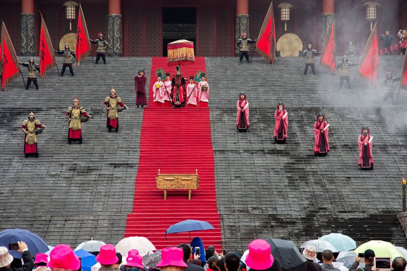 Enthroning of the First Emperor, Palace of Emperor Quin, Hengdian World Studios © Mark Parascandola