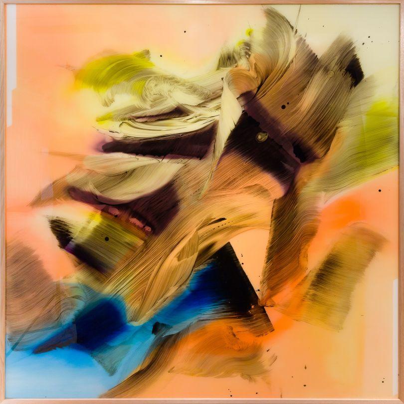 Camille Hannah, Spectare, 2018, Oil on plexiglass (200 x 200 cm)