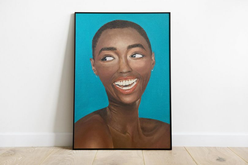 Black woman oil painting print by Charlotte Dyce