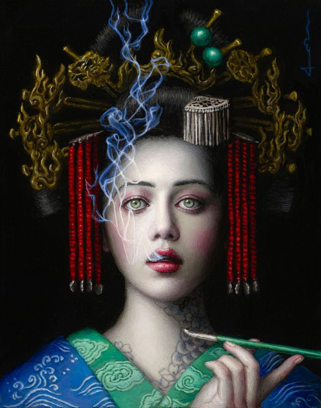 Dragon's Breath, 2020 © Chie Yoshii. All images courtesy of the artist and Corey Helford Gallery
