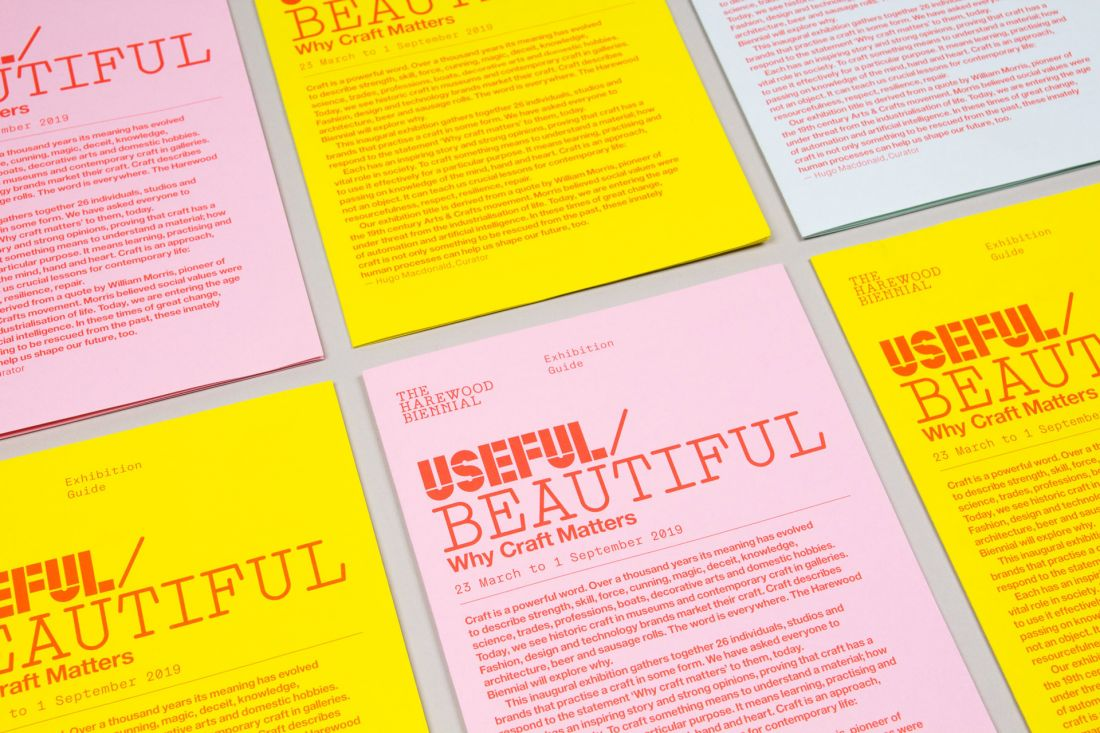 Studio.Build's new identity for the Harewood House Trust's Useful/Beautiful: Why Craft Matters
