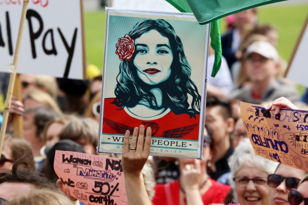 Women's March, Wellington, NZ. Image credit: Andy McArthur
