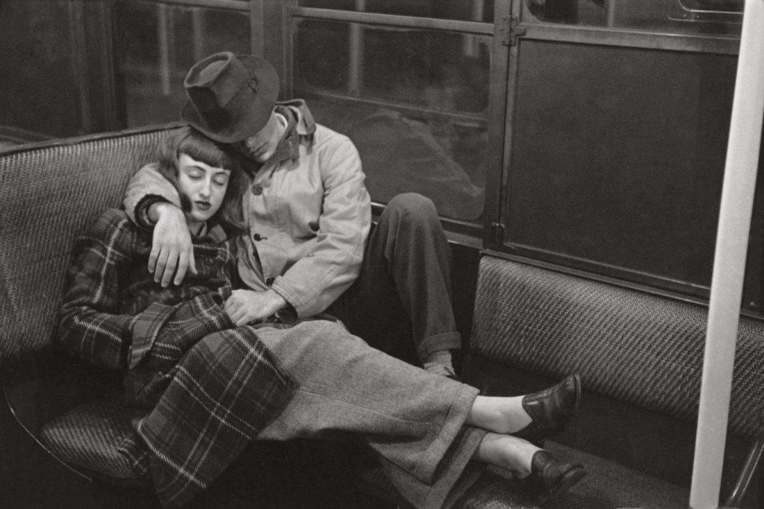 """Stanley Kubrick, from """"Life and Love on the New York City Subway,"""" 1947. Copyright: © SK Film Archives/Museum of the City of New York"""