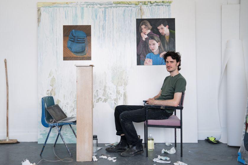 Tristan Pigott in his East London Studio, 2020. Photo by Georgia Rothman courtesy of ALICE BLACK