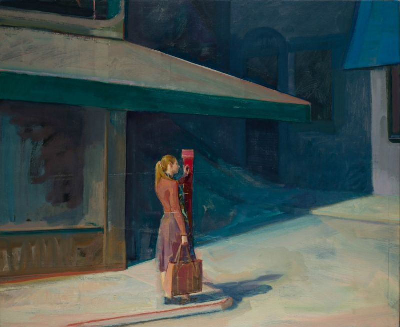 Hiroshi Sato's latest paintings show a quieter San Francisco as more people avoid the city during Covid-19