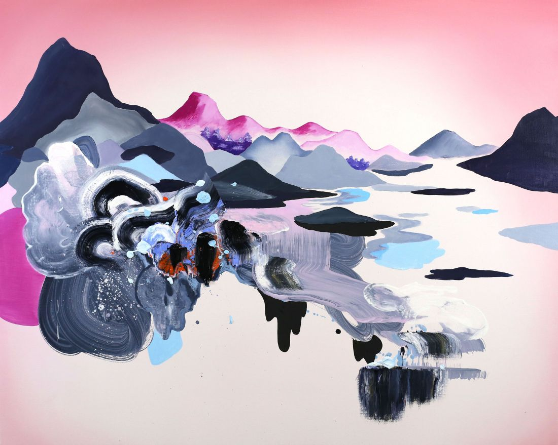 Paintings by Jane Rainey inspired by the ocean and traditional Japanese landscapes