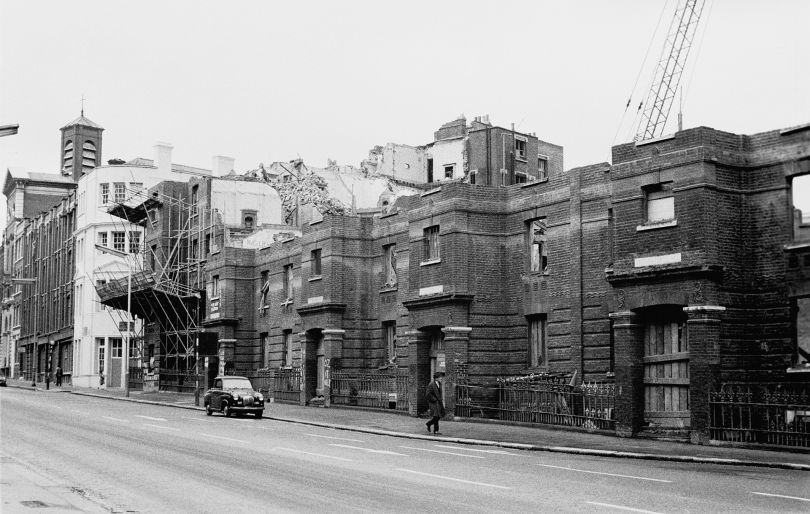 Victorian homes demolished. Clerkenwell Road - 1970s