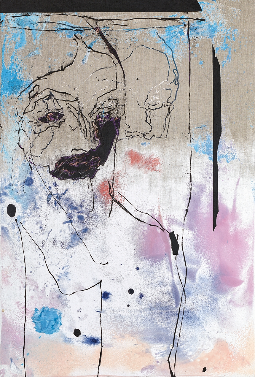 Secundino Hernández Untitled, 2017 Acrylic and oil on linen 100.2 x 68.2 cm (39 1/2 x 26 7/8 in) Courtesy the Artist and Victoria Miro, London © Secundino Hernández